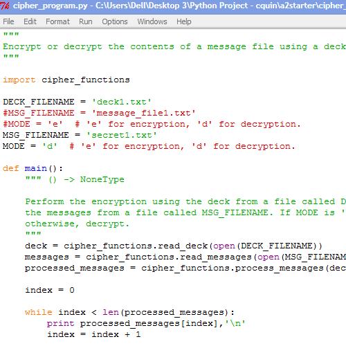 Write a program for caesar cipher