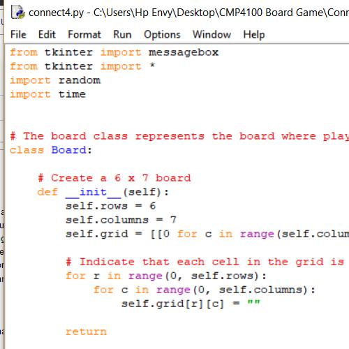 it2051229 CMP4100 Board Game