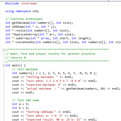 it2051229 C++ Pointers Exercise
