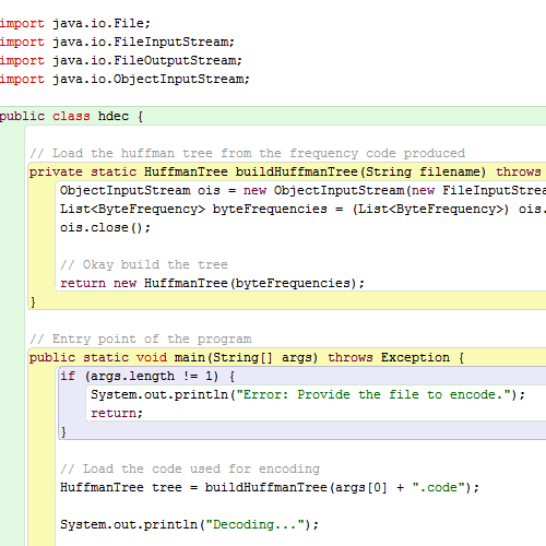 it2051229 Huffman Encoder Decoder