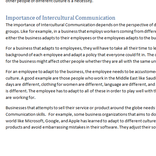 intercultural communication importance of intercultural communication