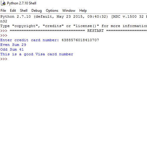 It2051229 Python Credit Card Validator