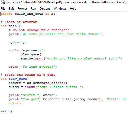 it2051229 Python Exercises