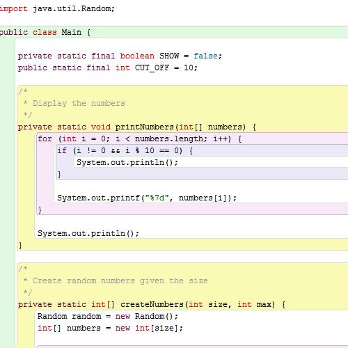 quick sort java code