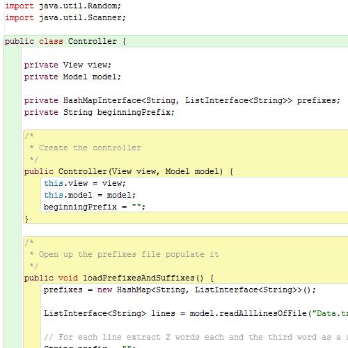 it2051229 HashMap Random Text Generator