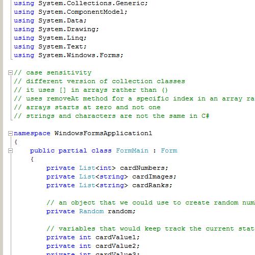 Visual c#. Net calculator project code.