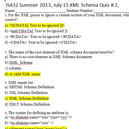 it2051229 XML and XSD Quiz